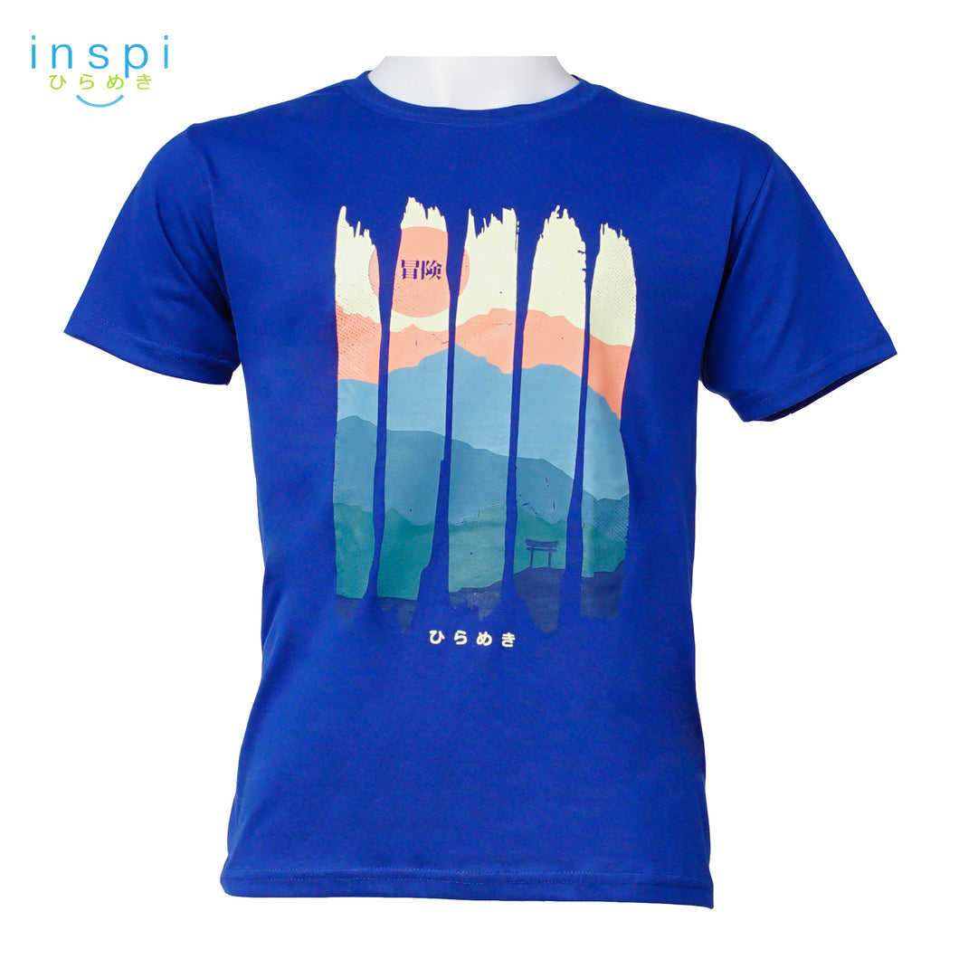 INSPI Tees Nature Portrait Graphic Tshirt in Royal Blue