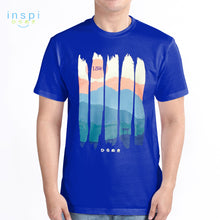 Load image into Gallery viewer, INSPI Tees Nature Portrait Graphic Tshirt in Royal Blue