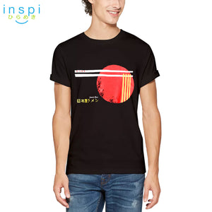 INSPI Tees Japan Ramen Graphic Tshirt in Black