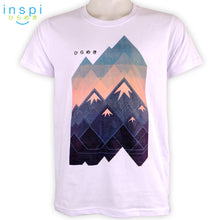 Load image into Gallery viewer, INSPI Tees Mountain 2D Graphic Tshirt in White