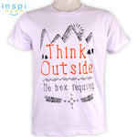 INSPI Tees Think Outside Graphic Tshirt in White