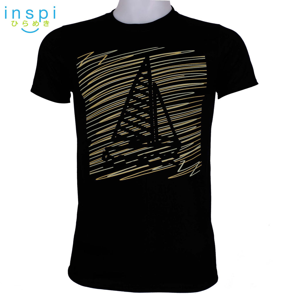 INSPI Tees Doodle Boat Graphic Tshirt in Black