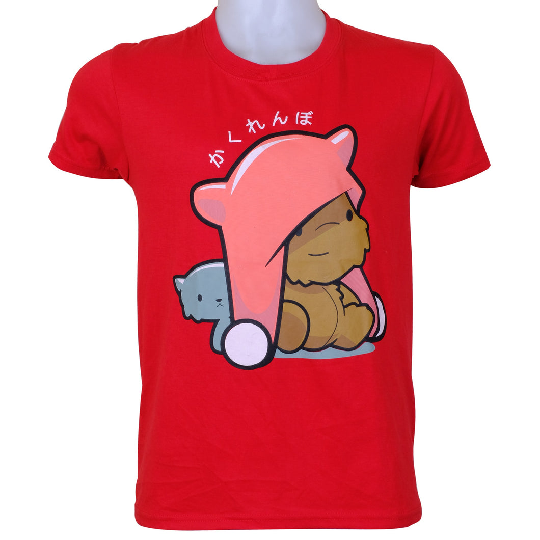 INSPI Tees Kawaii Teddy Graphic Tshirt in Red