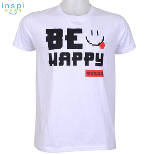 INSPI Tees Be Happy Graphic Tshirt in White