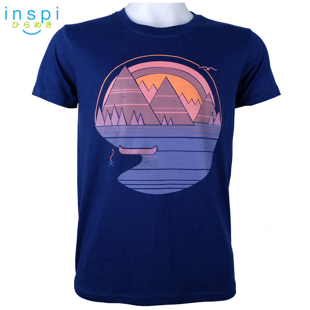 INSPI Tees Mountains Graphic Tshirt in Blue