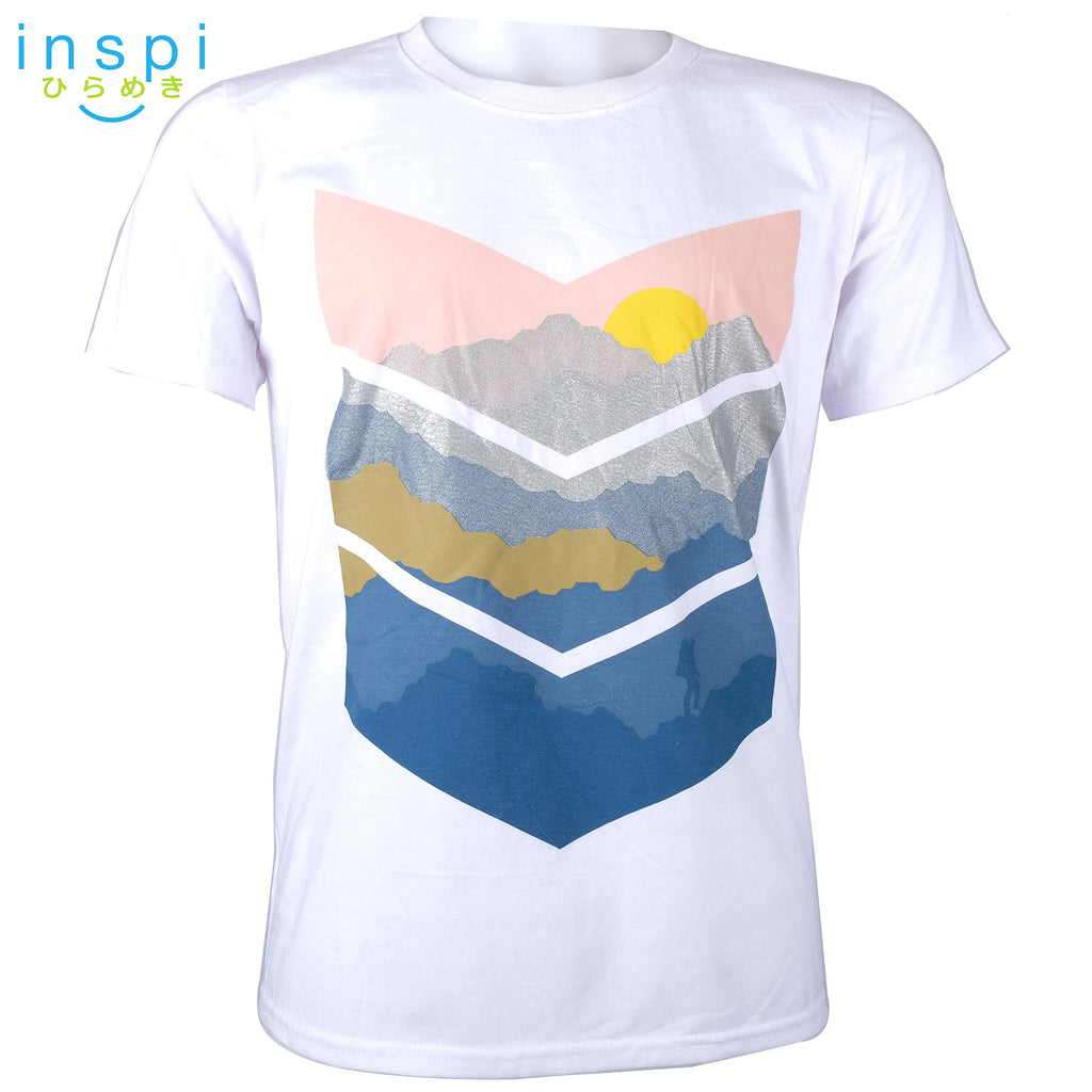 INSPI Tees Hiking Graphic Tshirt in White