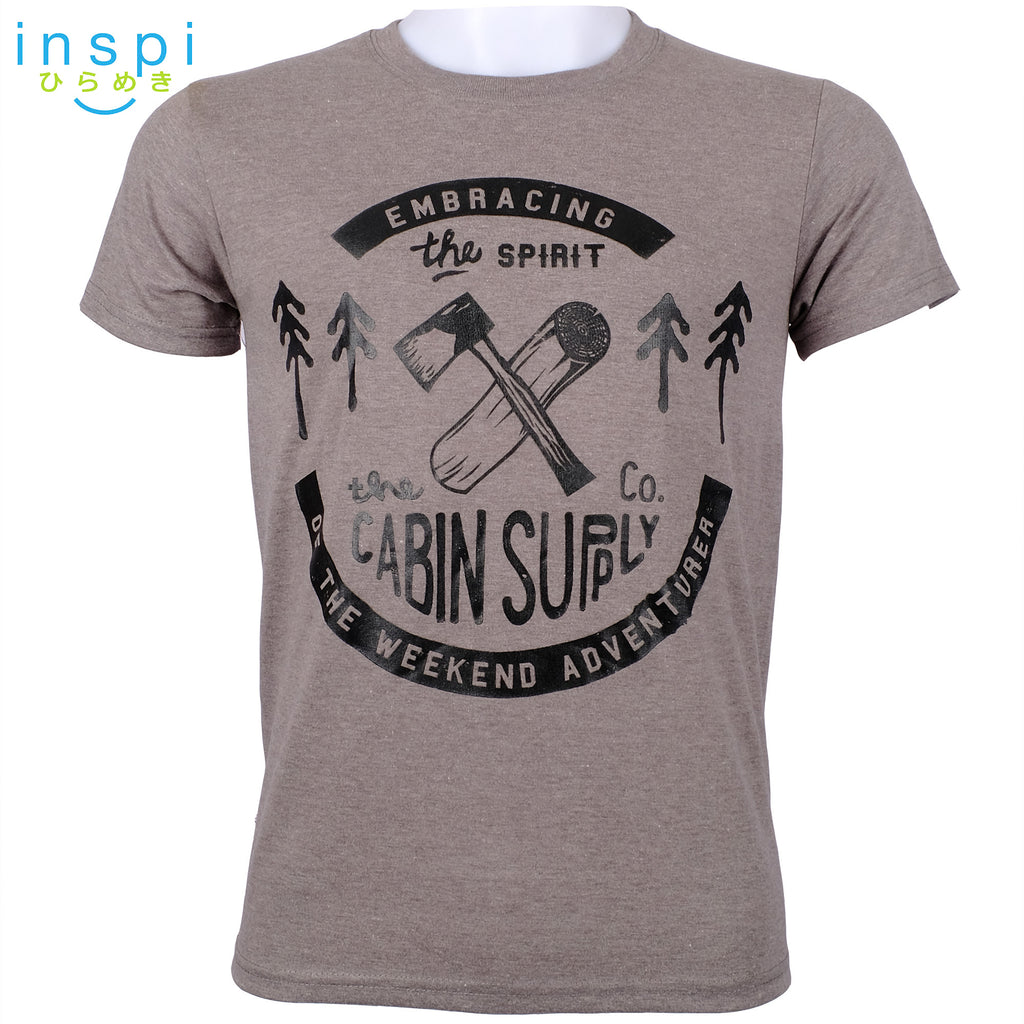 INSPI Tees Cabin Supply Graphic Tshirt in Gray