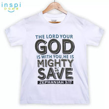Load image into Gallery viewer, INSPI Shirt God Mighty Graphic Shirt in White