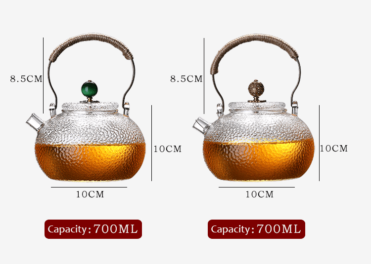 Glass Teapot Heat Resistant Teapot Product Size