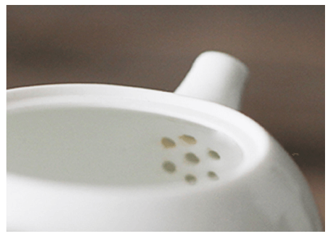 Porcelain Teapot Filter Detail