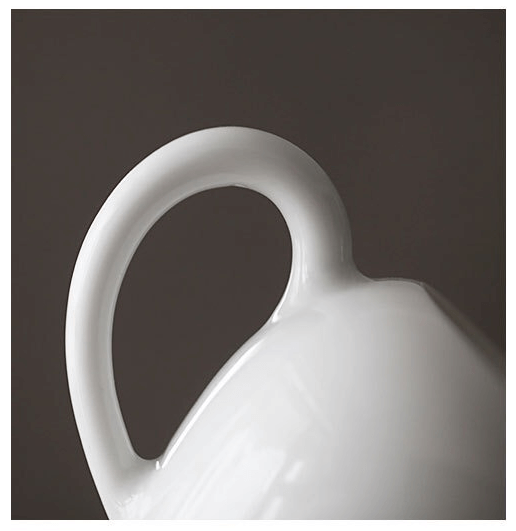 Porcelain Teapot Handle Detail
