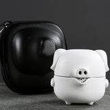 Express Cup Creative Pig Simple Travel Ttea Set Carrying Case Set