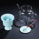 Ceramic electric ceramic stove tea maker warm tea stove household glass kettle tea set health stove kung fu tea set