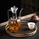 Chaise Pot Creative Single Pot Heat-resistant Glass Teapot Flower Teapot Transparent Bubble Pot