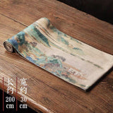 Cotton Linen Cloth Tea Mat Thousand Miles Jiangshan Tea Cloth Tea Towel