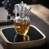 Kung Fu tea set chaise pot creative single pot heat-resistant glass teapot flower teapot transparent bubble teapot