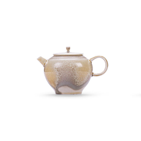 Japanese Kung Fu Teapot Handmade Ceramic Teapot Modern Retro Tea Maker Ball Hole Filter Single Pot
