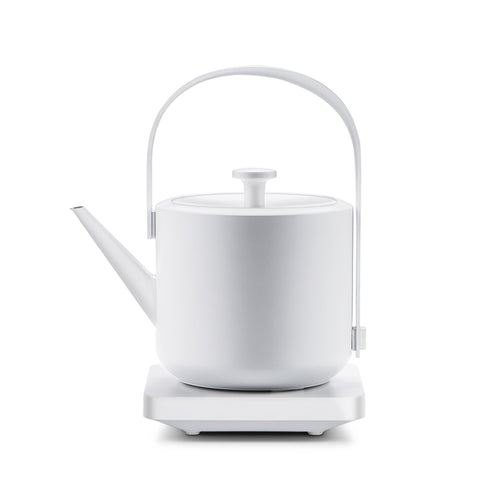 Silent portable electric kettle household small automatic power off water boiler 304 stainless steel white hand teapot