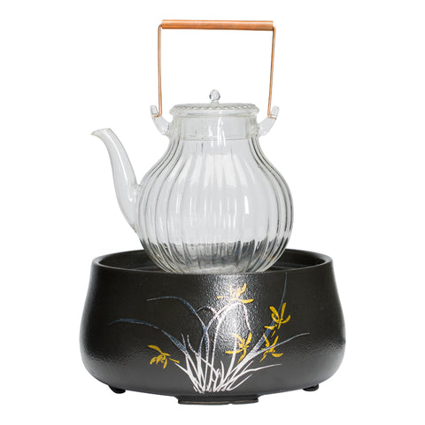 Hand made chrysanthemum ti liang glass kettle