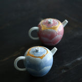 Arita burning teapot handmade ceramic ball hole filter teapot single pot