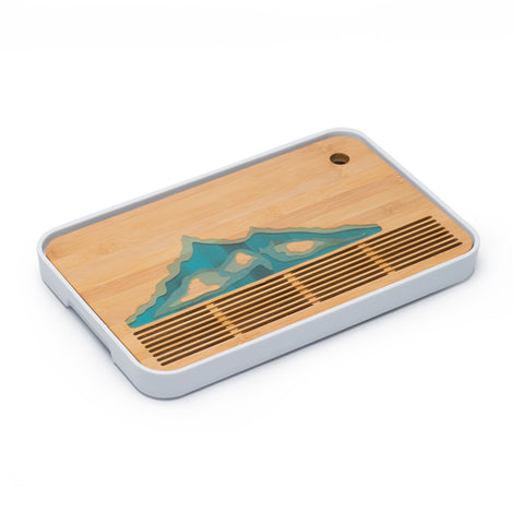 Bamboo Tea tray Creative Household Tea Tray Japanese Kung Fu Tea Set Modern Simple Small Tray Storage Water tea set