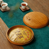 Bamboo preparation Pu'er tea storage box Chinese tea cake box tea tray tea ceremony storage display bamboo box