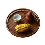 Bamboo tray round tea tray Tea storage tray