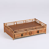 Merlot Bamboo Desktop Tea Dhed Tea Ceremony Accessories Storage Tray Drawers Small Tea Table Display Stand Table Decoration