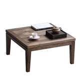 Black Walnut Small Tea Table Chinese Zen Table Bay Window Table Tea Room Living Room Simple Solid Wood Coffee Table Wood Furniture