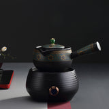 Black pottery Japanese tea pot ceramic electric ceramic stove Black tea Pu'er teapot set Household teapot kettle
