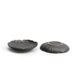Black pottery lotus coaster
