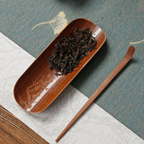 Engraved Meilan Bamboo Chrysanthemum Tea Scoop Three-piece Set Tea Lotus Kung Fu Tea Accessories Bamboo Tea Spoon