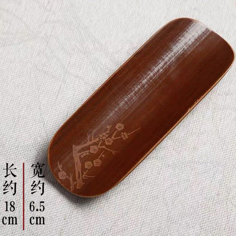 Carving Meilan bamboo chrysanthemum tea scoop three-piece set tea lotus Kung Fu tea accessories bamboo tea spoon teaspoon