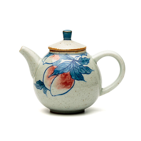 Hand-painted Blue And White Stoneware Handmade Ceramic Teapot