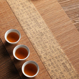Cloth bamboo mat tea mat linen Zen table Chinese traditional Japanese tea tray tea cushion tea tablecloth tea towel tea curtain