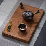Coarse pottery water-absorbing dry foam tea tray ancient teapot-bearing tea tray all handmade vintage tea set tea table