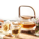 Complete set of Kung Fu tea set flower teapot girders pot glass teapot tea set