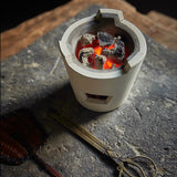 Handmade refractory white mud boiled tea charcoal stove