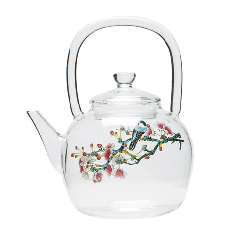Heat-resistant glass teapot creative hand-painted thick glass girders kettle boiled flower teapot kettle electric ceramic stove tea pot