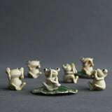 Cute Frog Small Ornaments Ceramic Tea Pet