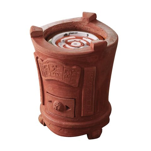 Red peat charcoal furnace modified electric pottery wire stove
