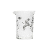 Fairy Crane Glass Fair Cup Thick Heat-resistant Glass Tea Separator Filtering Tea Sea Tea Leakage Tea Set Accessories