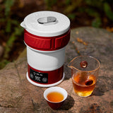 Folding electric kettle household teapot teacup portable outdoor travel tea set High-end tea set to drink tea anytime, anywhere