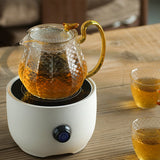 Glass teapot set filter teapot home heat-resistant explosion-proof teapot high temperature hammer pattern