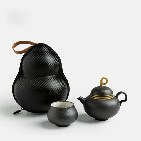 Gourd Creative Quick Cup One Teapot One Cup Travel Tea Set