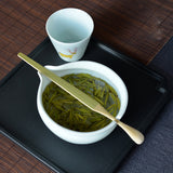 Green tea special tea utensils creative tea spoon dual-use filter tea maker