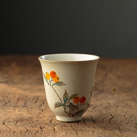 Hand-painted Cups High Cup Jingdezhen Pure Handmade Ceramic Smelling Cup