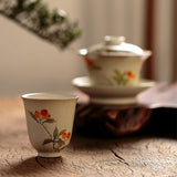 Hand-painted cups Kung Fu high tea cup Jingdezhen pure handmade ceramic smelling cup