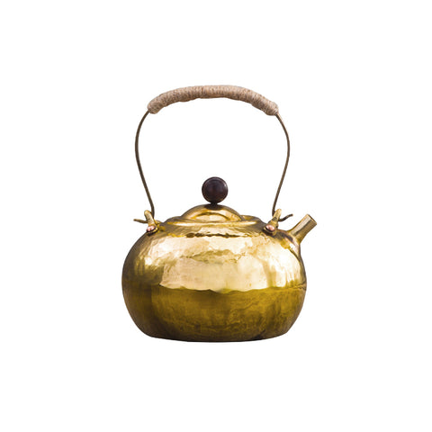 Hand-forged Brass Pot Boiled Teapot Kettle Antique Copper Kettle