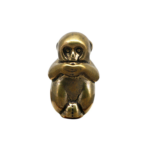 Handmade Brass Mini Monkey Incense Socket Fragrant Road Decoration